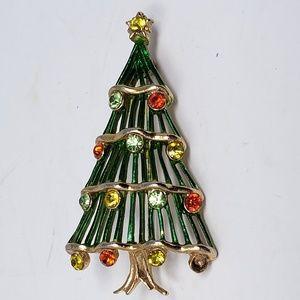 Vintage Hedy Christmas Tree brooch pin